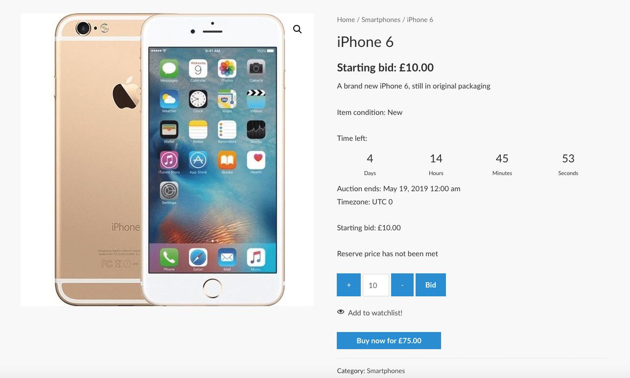 iphone 6 auction