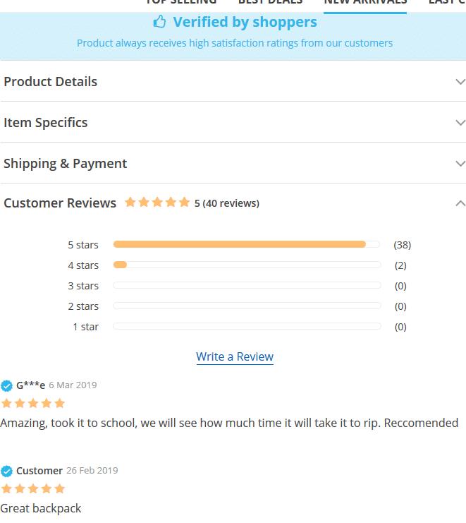 reviews wordpress dropshop andy theme