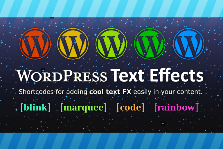 WordPress Text Effects