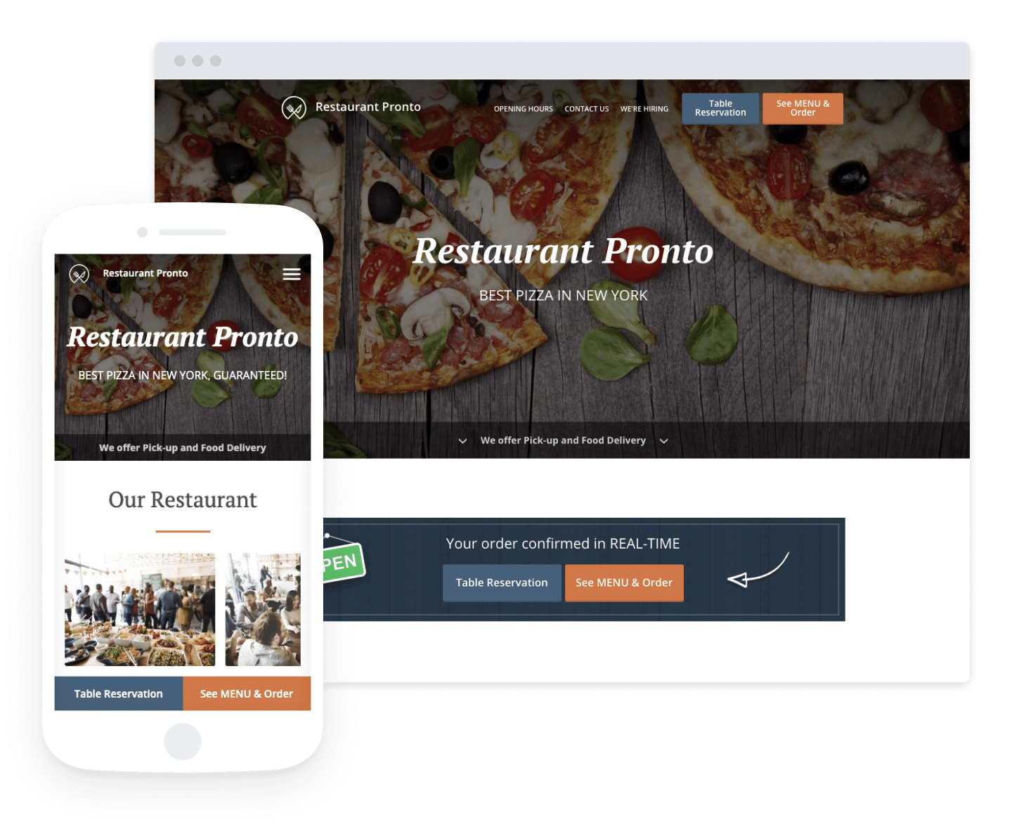 see menu and order