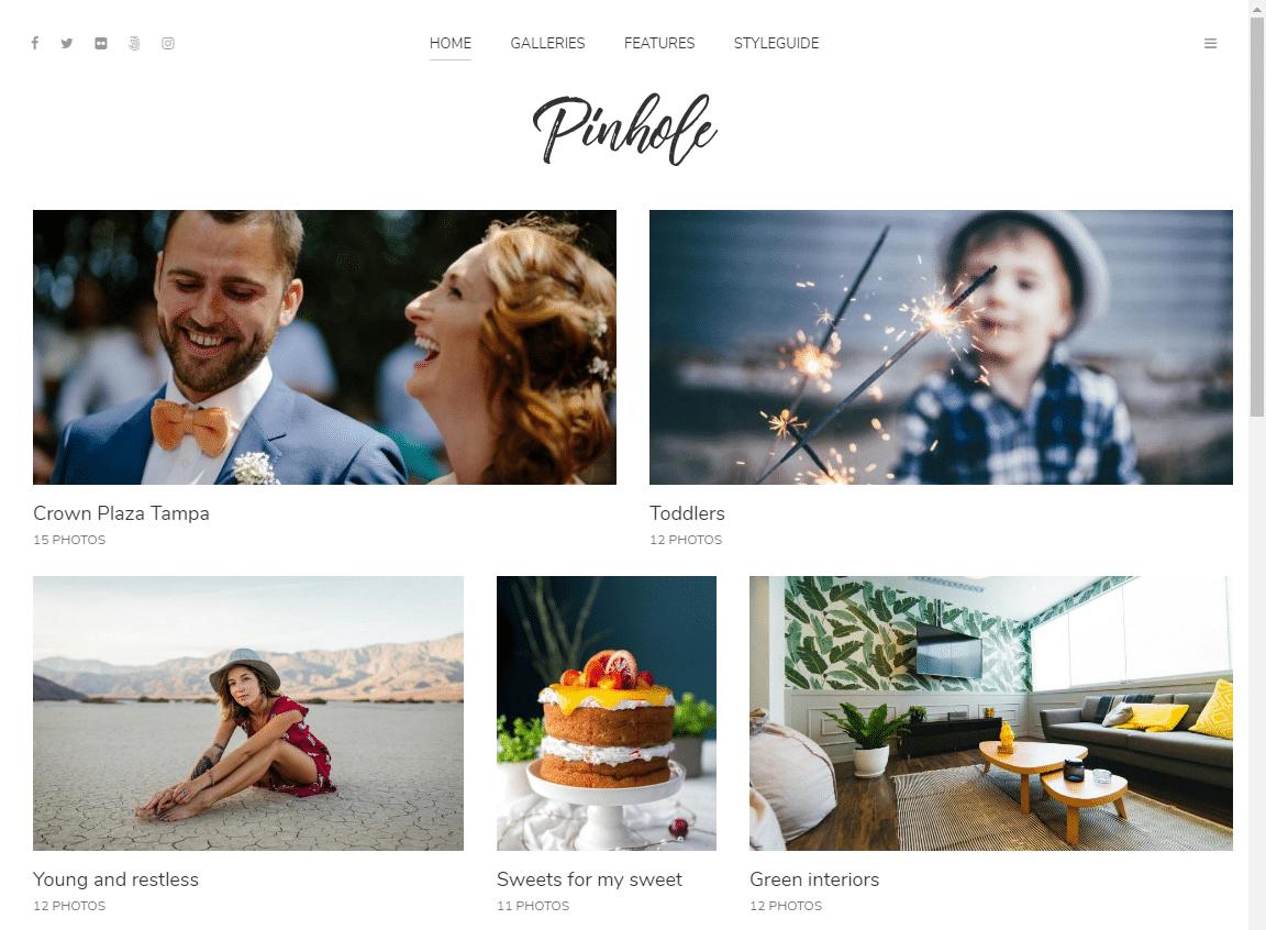 Pinhole WordPress grid theme