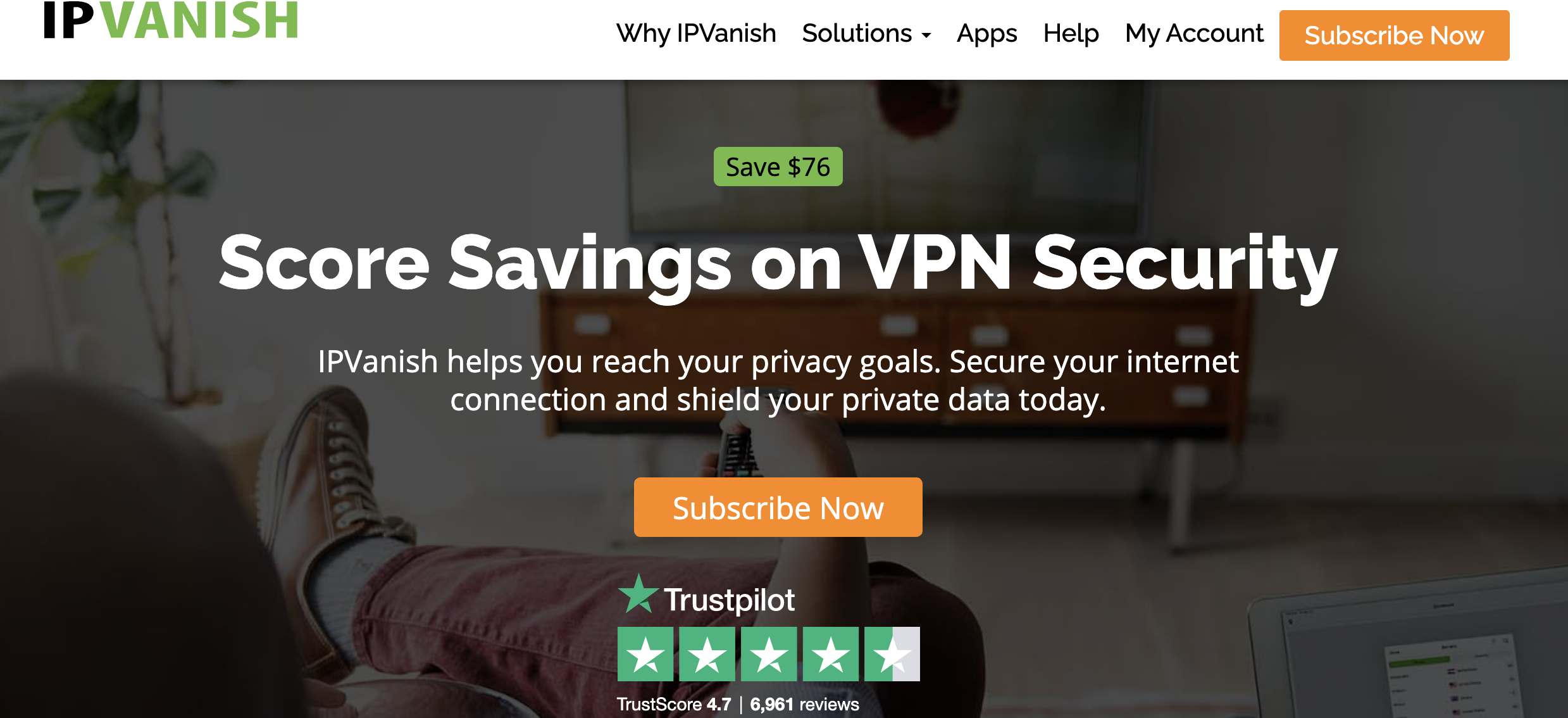 IPVanish - best VPN services