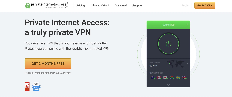 Private Internet Access - best VPN services
