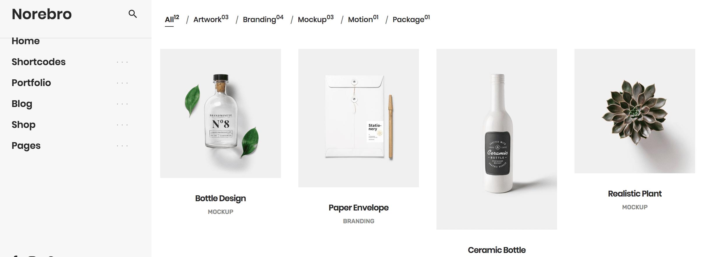 norebro wordpress theme grid