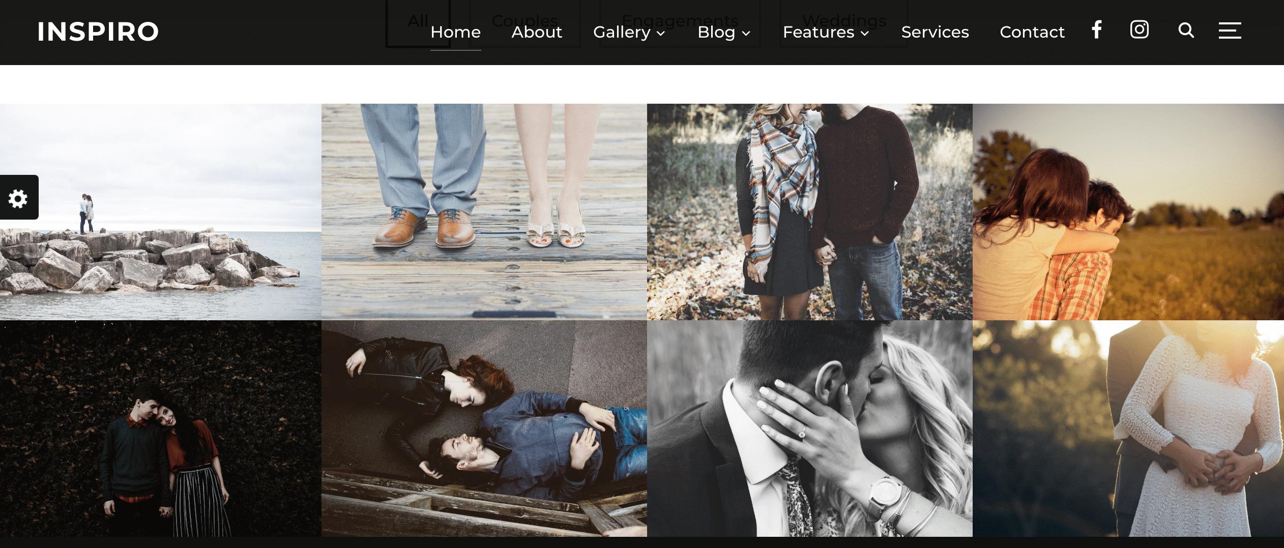 Inspiro WordPress grid theme