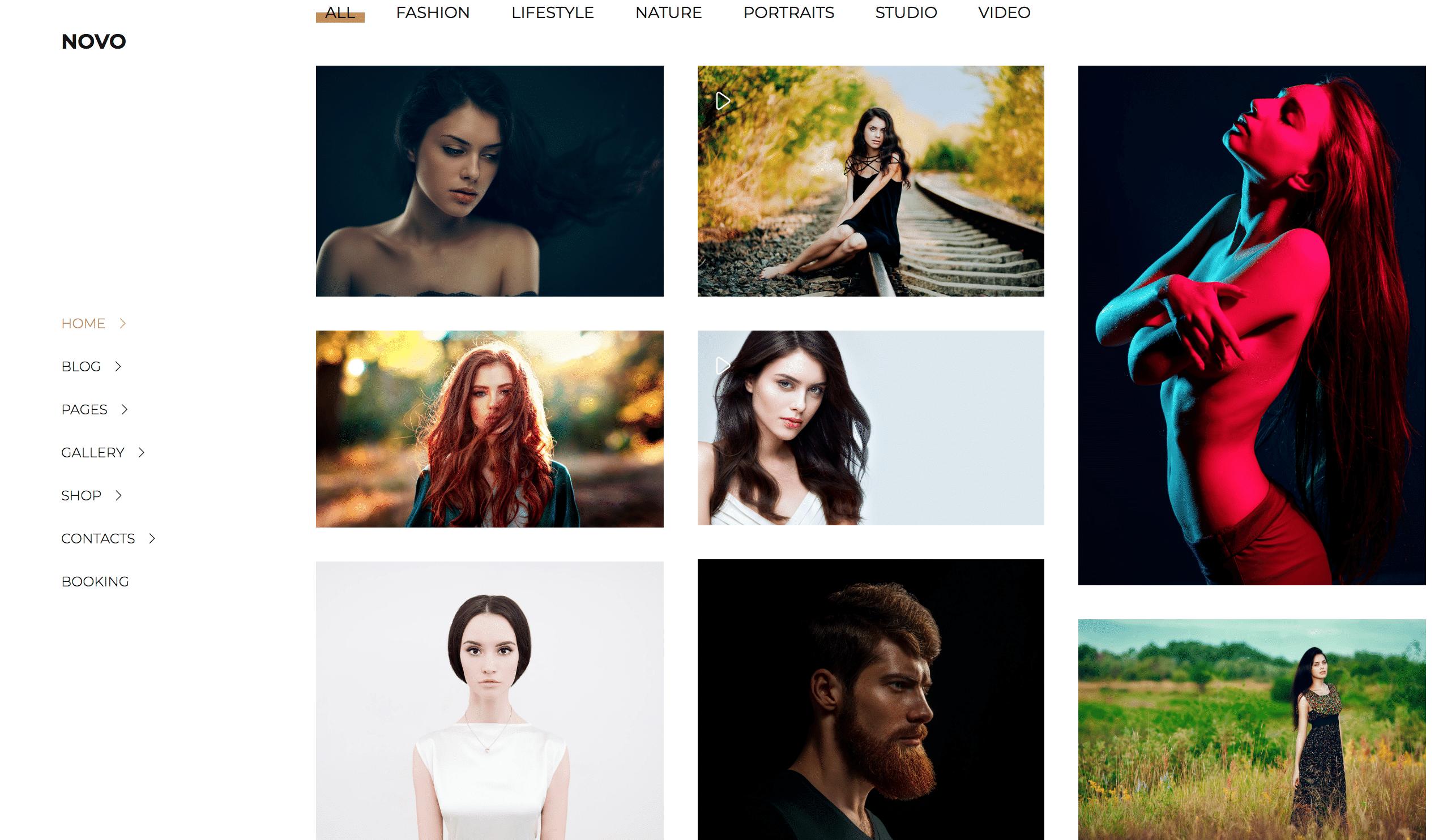 Novo WordPress grid theme