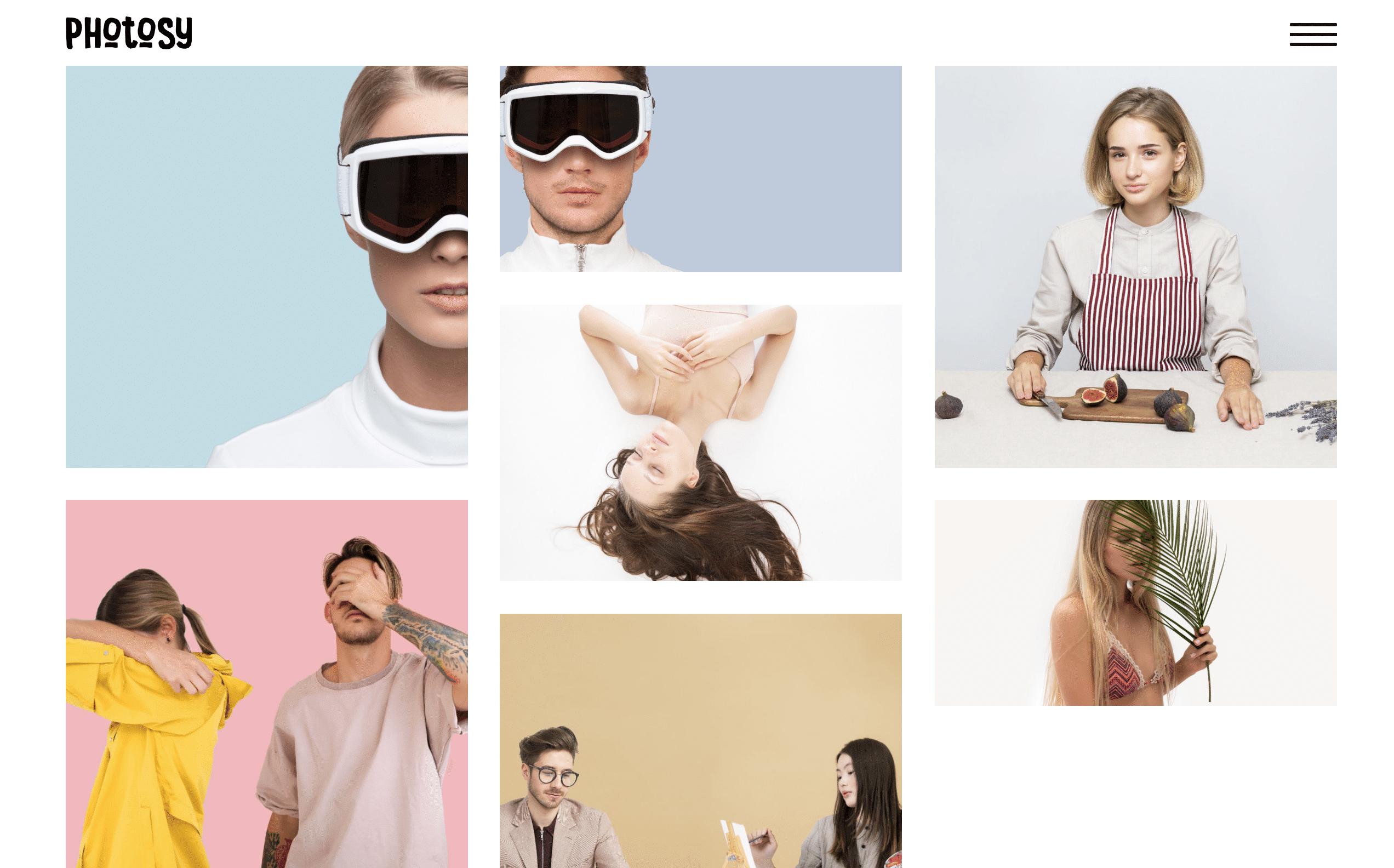 Photosy WordPress grid theme
