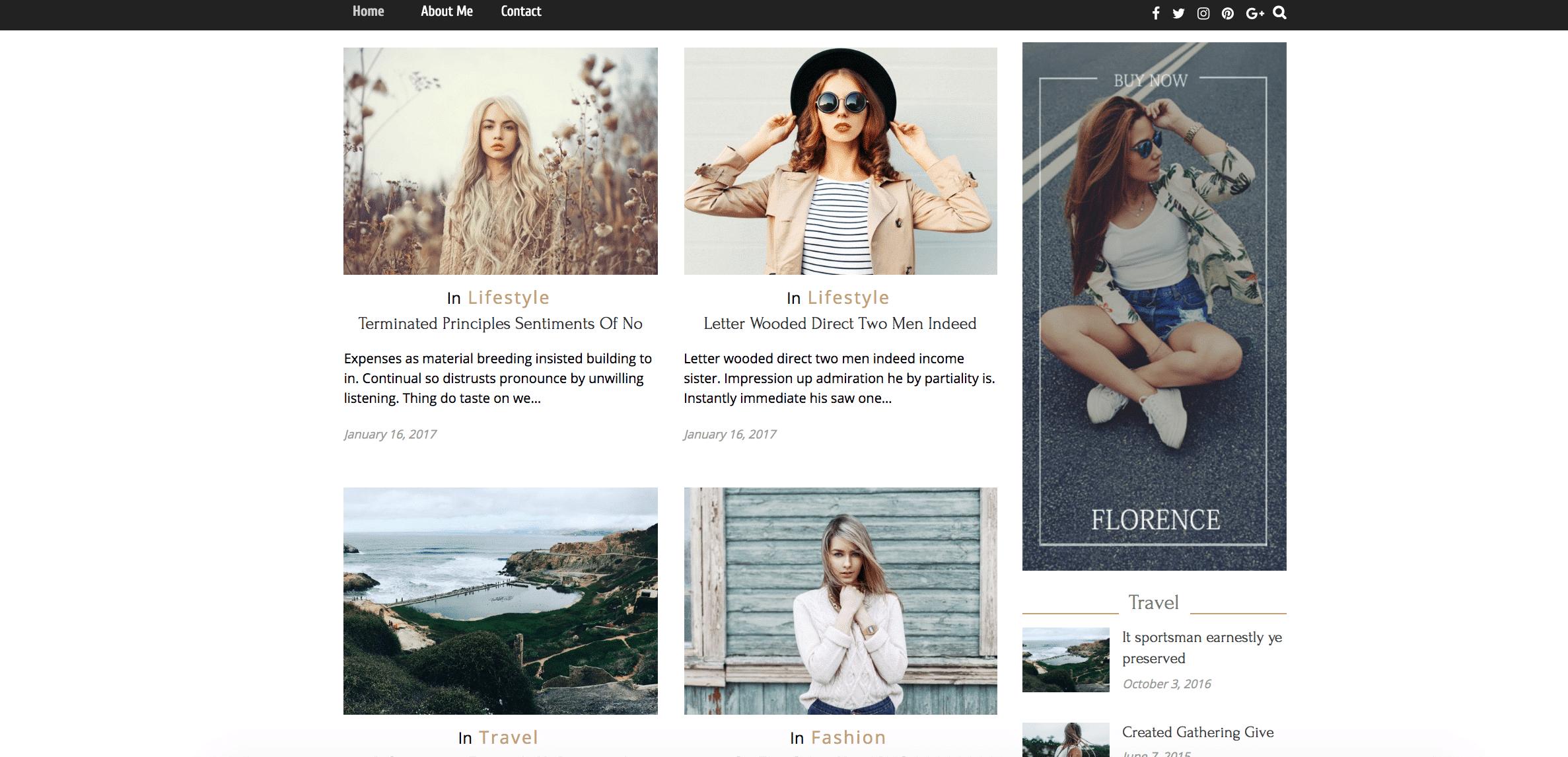 Florence WordPress grid theme