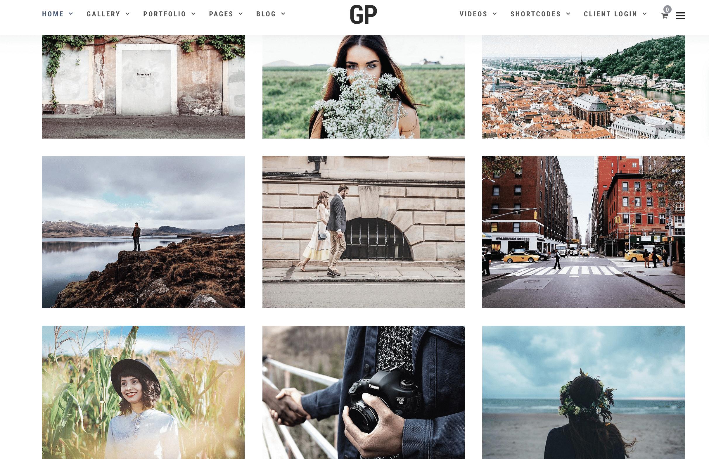 grand photography grid theme wordpress