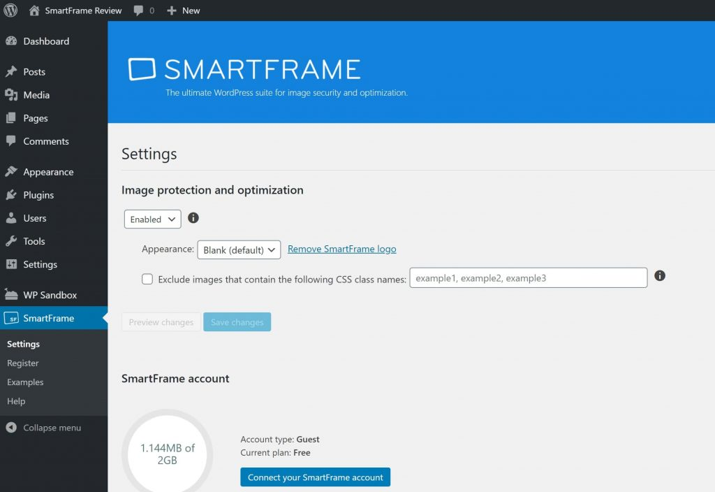 SmartFrame setup process