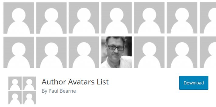 author avatars list - create author page wordpress
