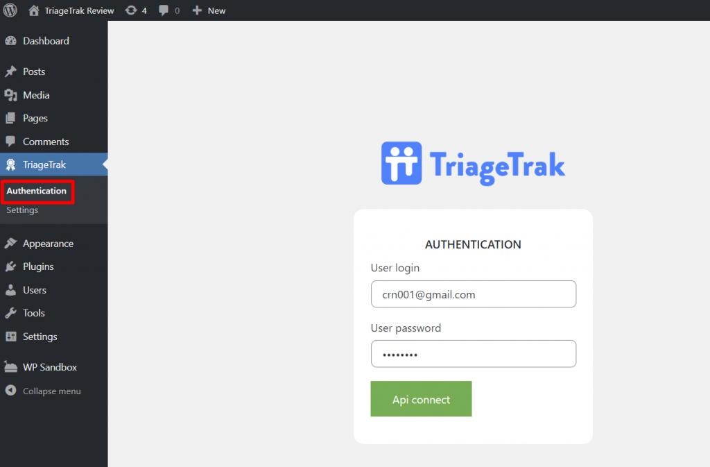 Sync TriageTrak