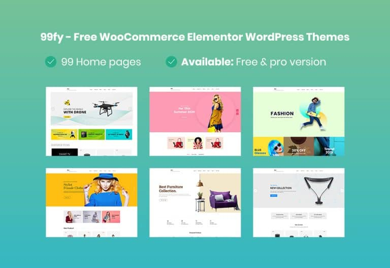 99fy - Free WooCommerce WordPress Theme