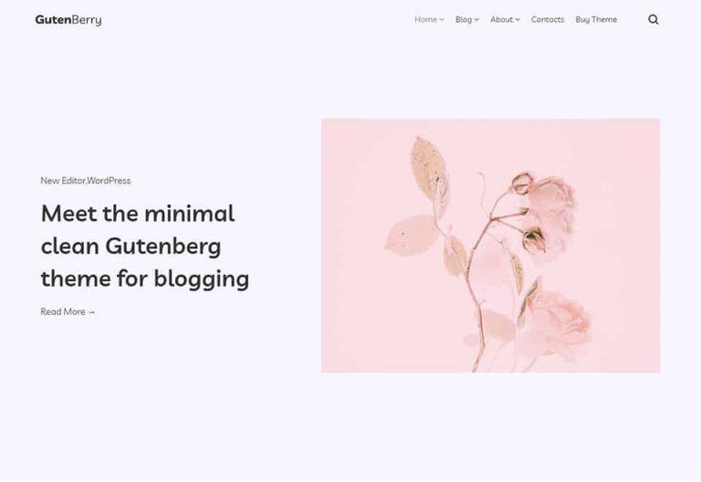 Gutenberry – Classy WordPress Blog Theme for Gutenberg Editor