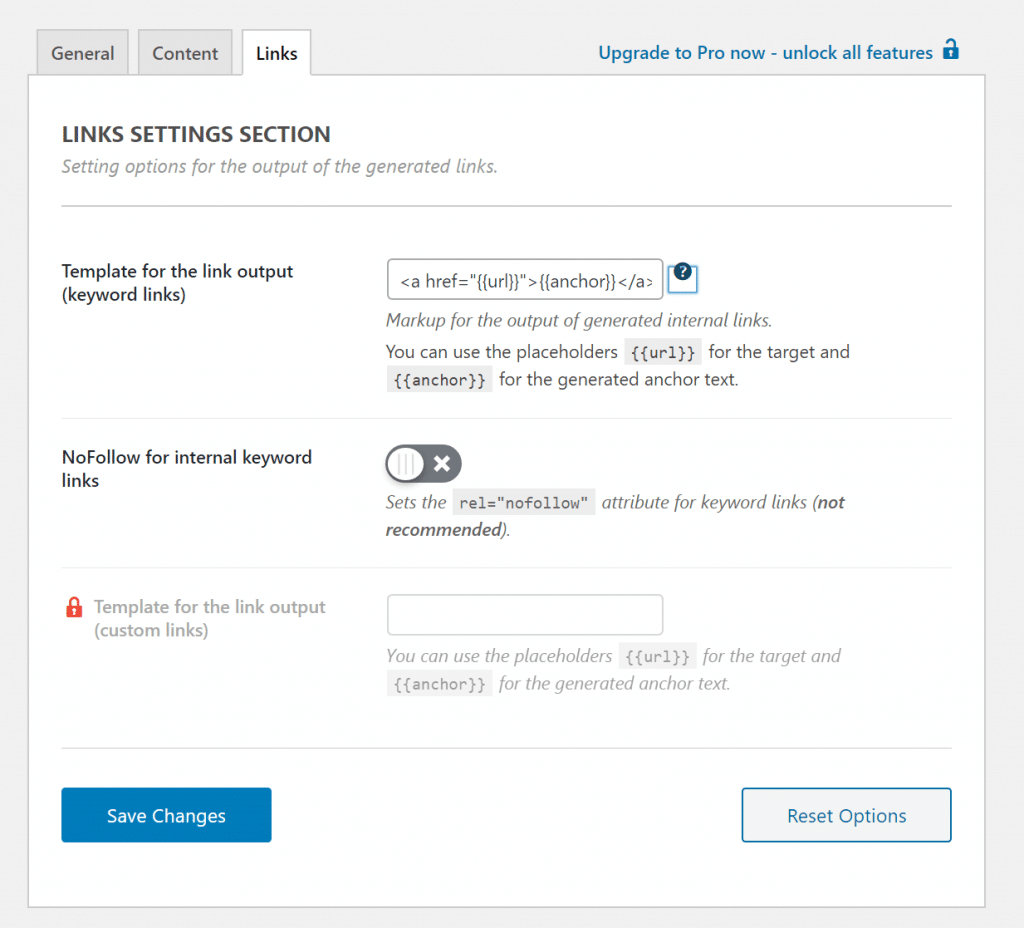 Internal Link Juicer link templates