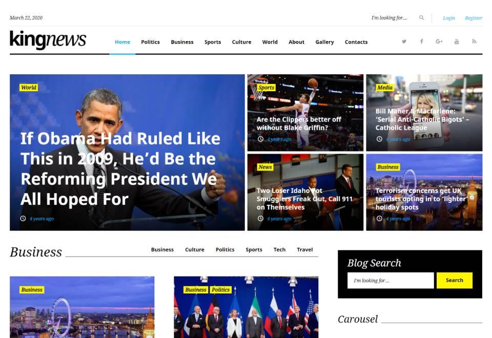 KingNews - Minimalist WordPress News Portal & Blog Theme
