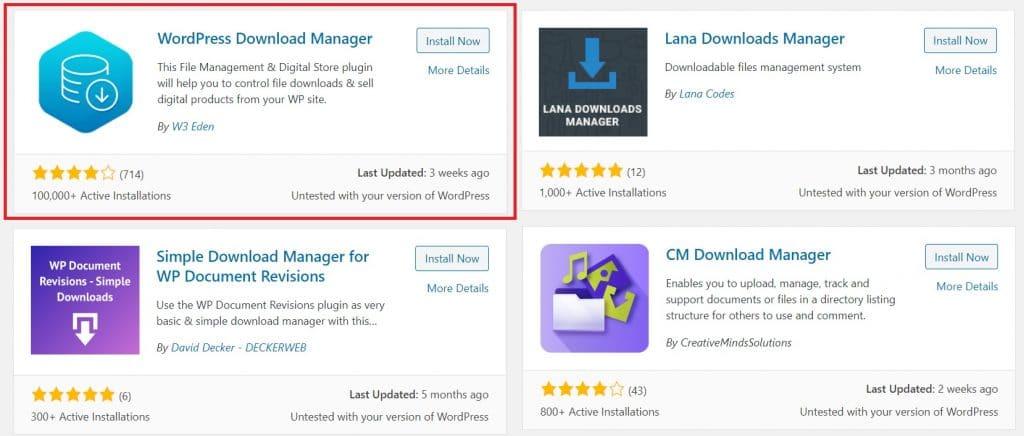 Wordpress Download Manager image
