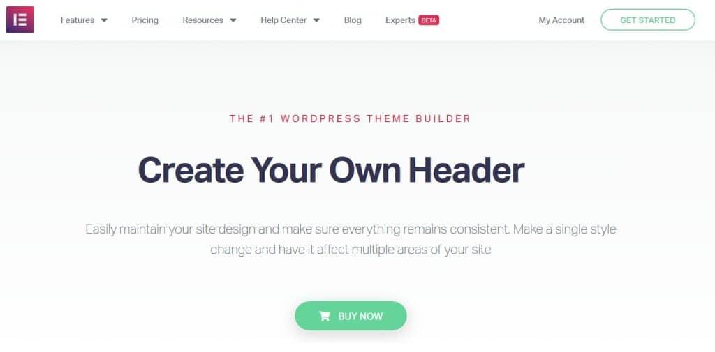 Elementor Pro WordPress theme builder
