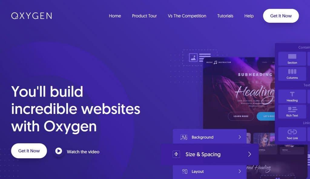 Oxygen WordPress website builder