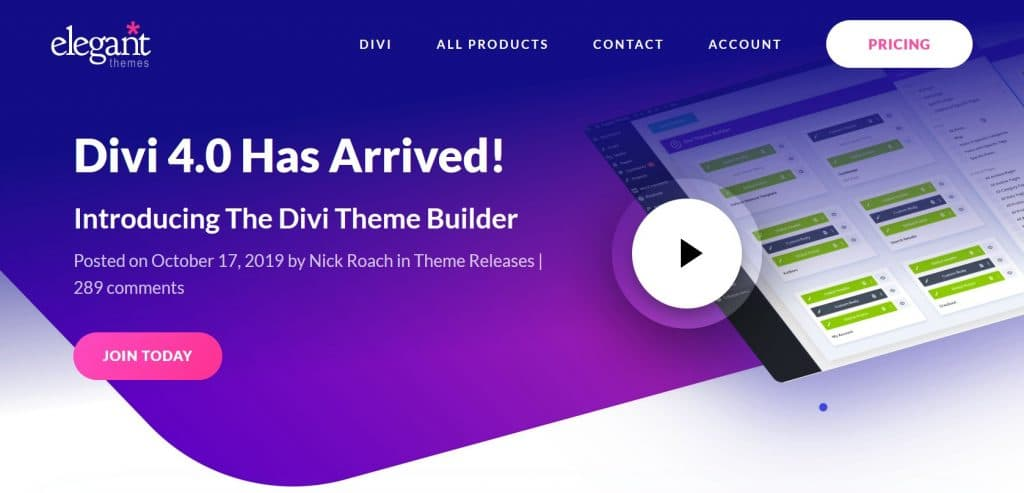 Divi WordPress theme builder