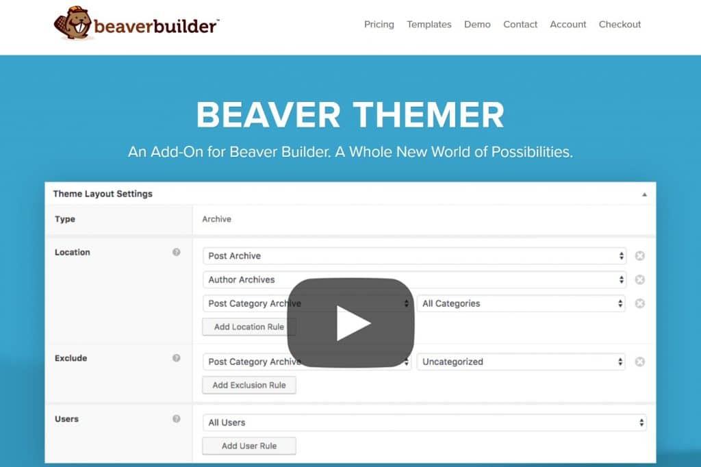Beaver Themer WordPress builder
