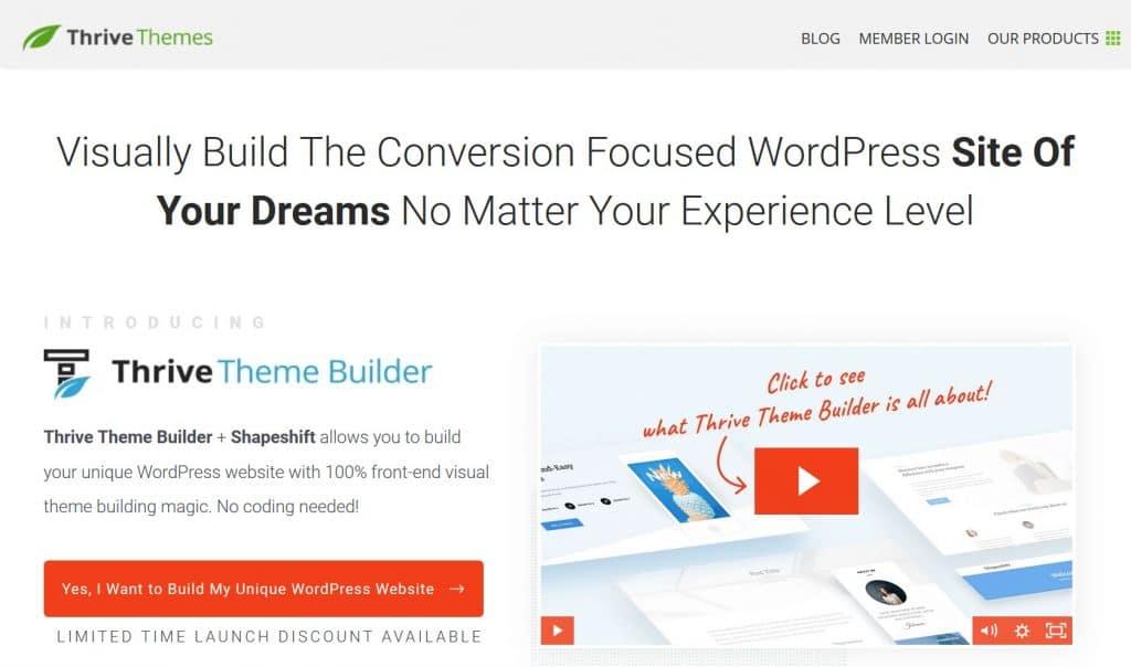Thrive Theme Builder WordPress plugin