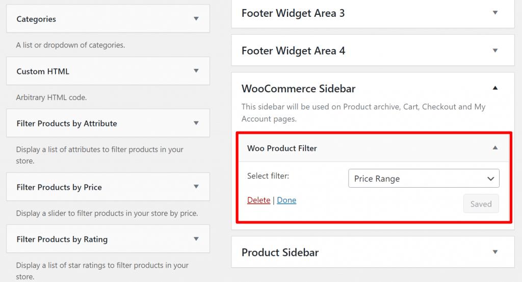 Dedicated widget