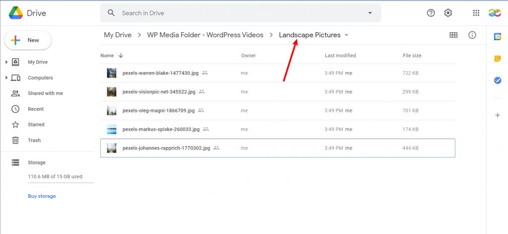 Synced folders in Google Drive