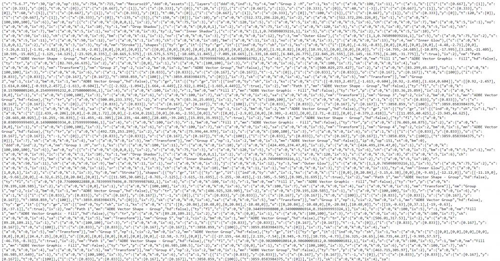 Lottie animation code