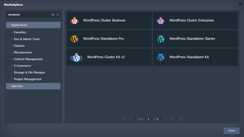 Jelastic WordPress installs