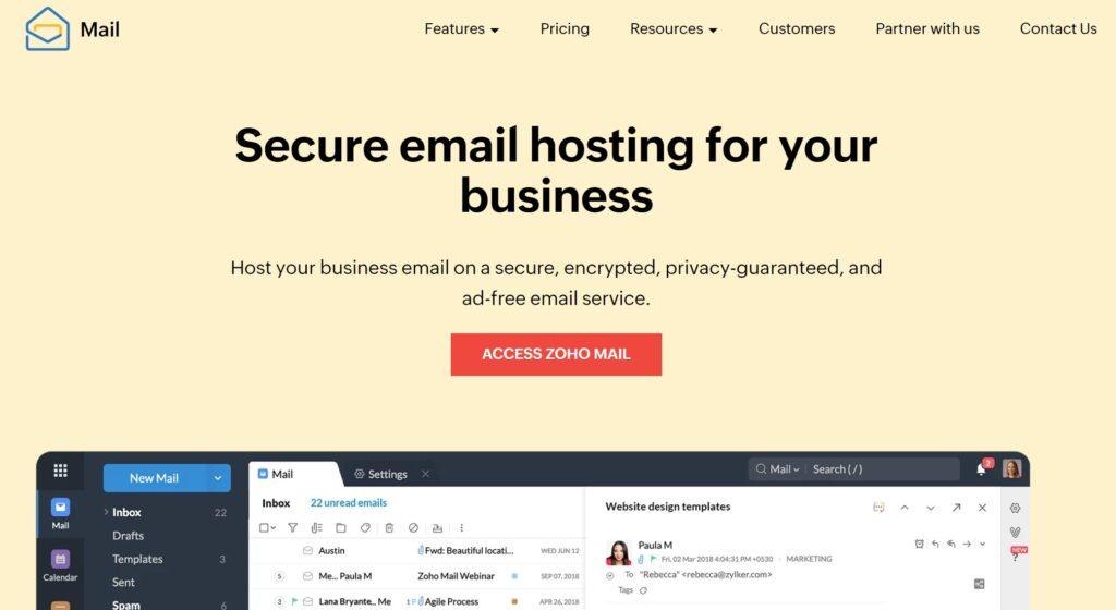 Zoho Mail email hosting