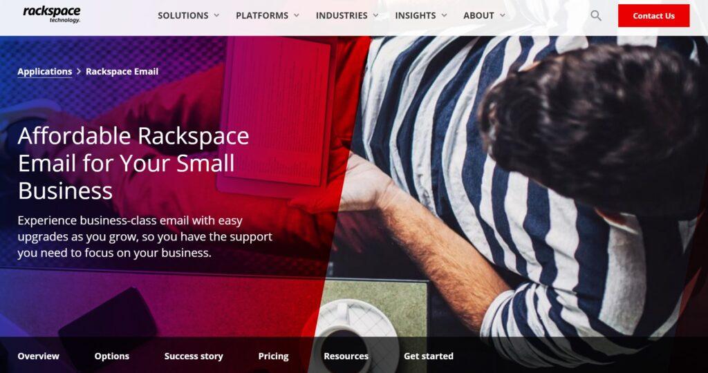 Rackspace email hosting