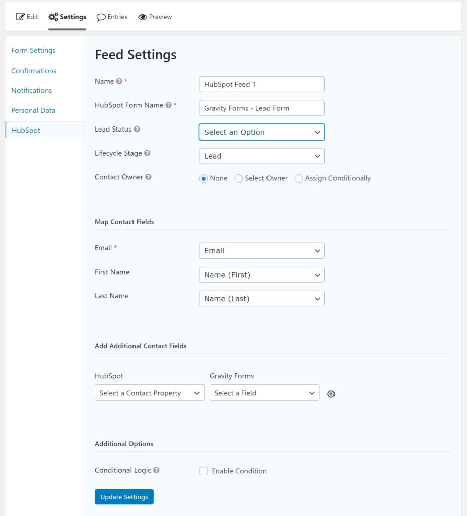 Create feed