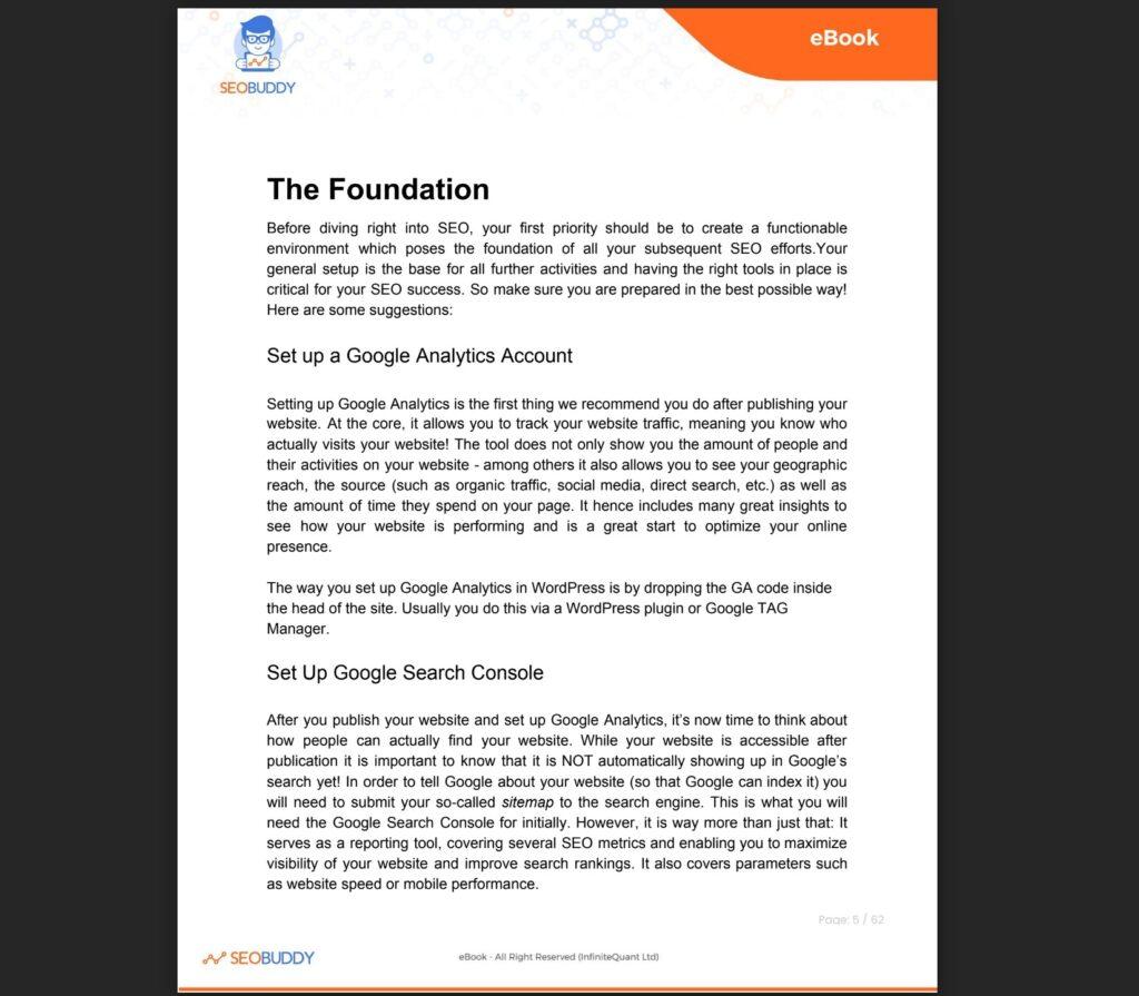 The SEO Checklist ebook
