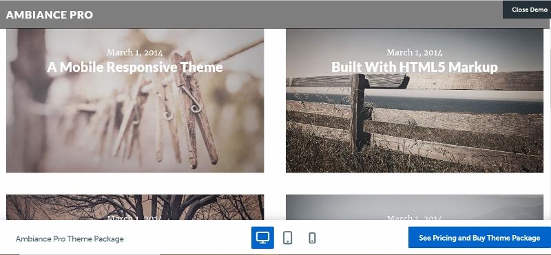 Ambience Pro - WordPress themes like Pinterest
