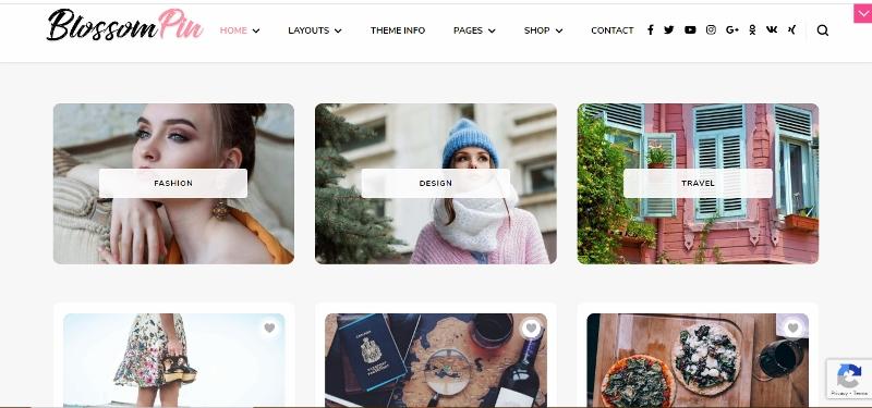 Blossom Pin Pro - WordPress Pinterest Theme