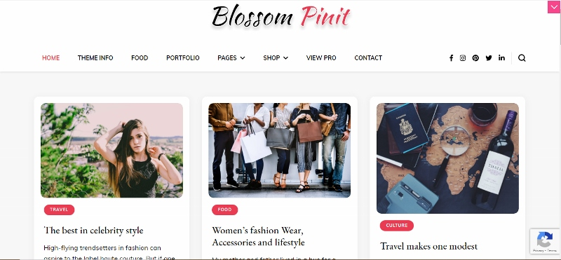Blossom PinIt Pro - WordPress Pinterest Theme