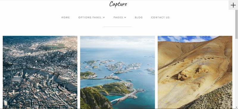 Capture - gird style portfolio WordPress theme