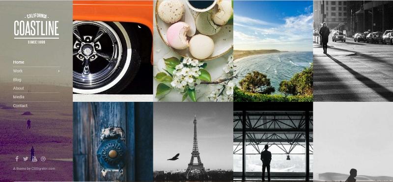 Coastline - Pinterest style theme for travel bloggers