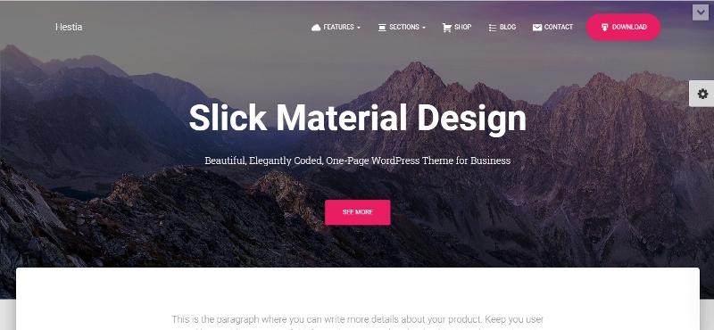 Hestia Pro - Material Design WordPress Theme