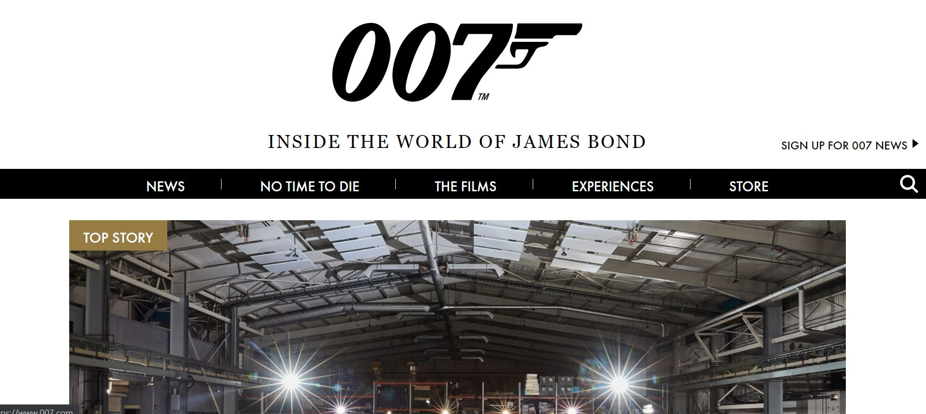 James Bond website