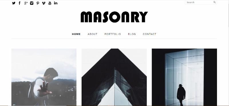 Masonry WordPress Theme