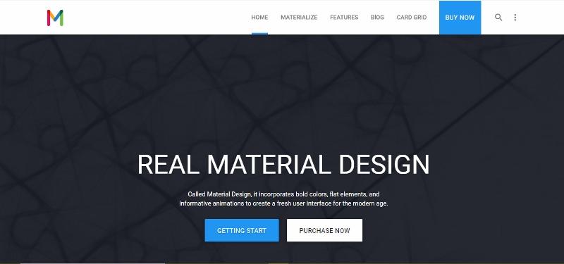 Materialize WordPress Material Design theme
