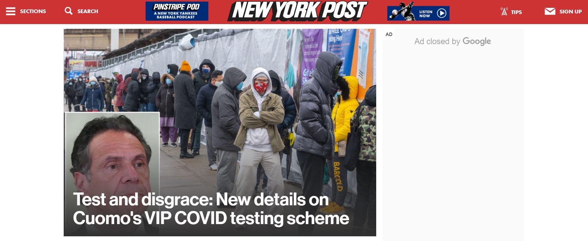 New York Post website