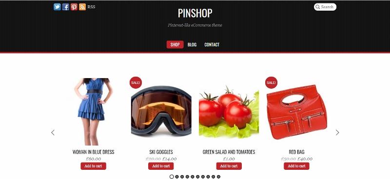 Pinshop - Pinterest like ecommerce theme