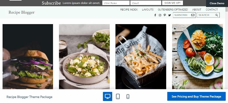 Recipe Blogger - Pinterest like theme for food bloggers