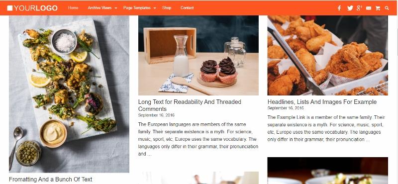 Grid - Pinterest like website theme