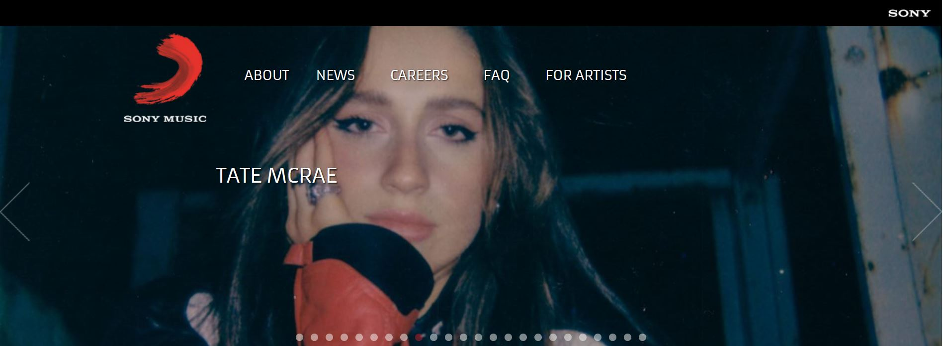 Sony Music website