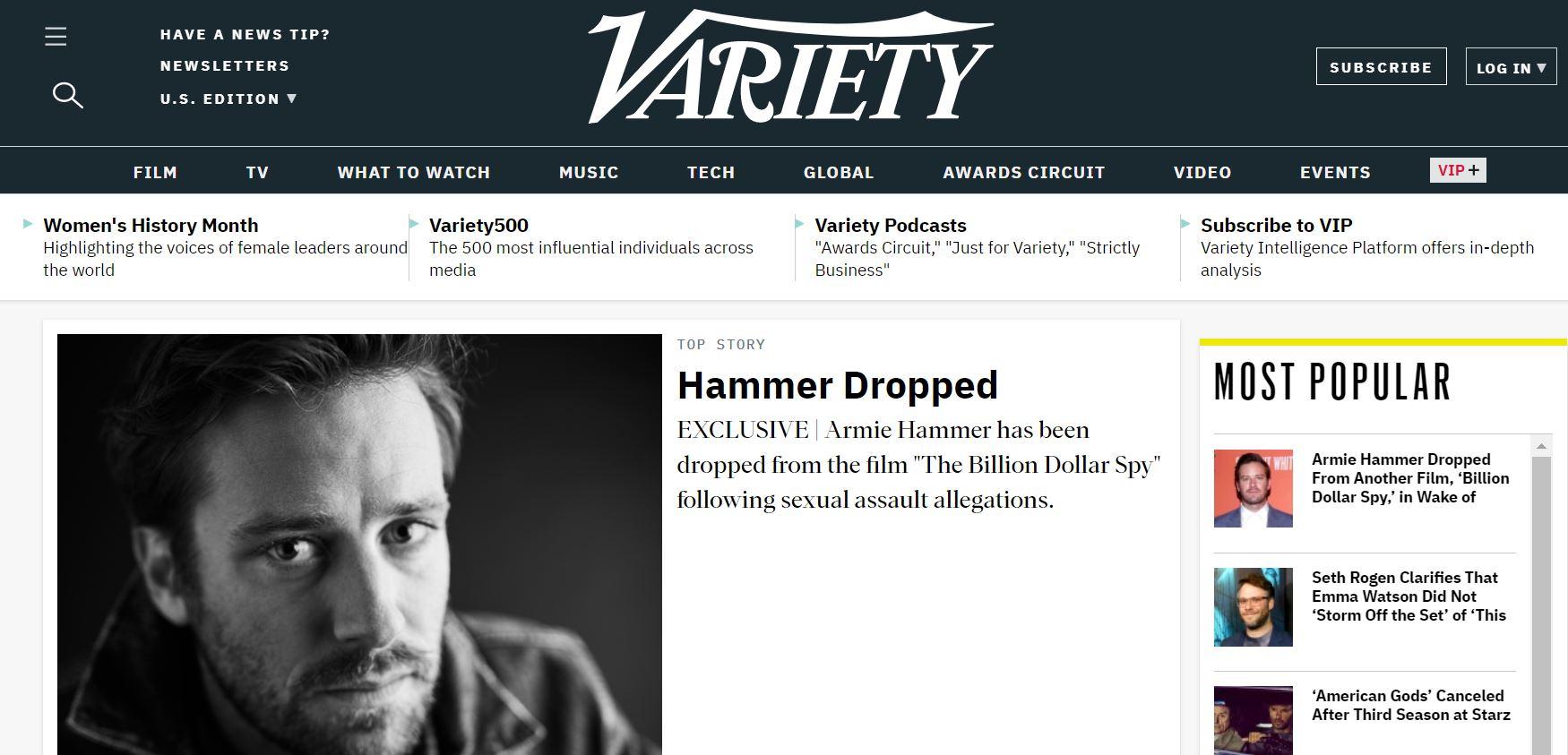Variety website