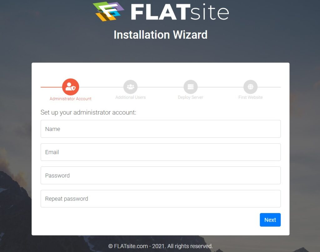 FlatSite setup